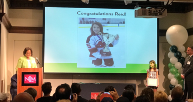Reid Snyder was honored by the National Liberty Museum with a Young Heroes Award for convincing her city council to build a community skating rink.