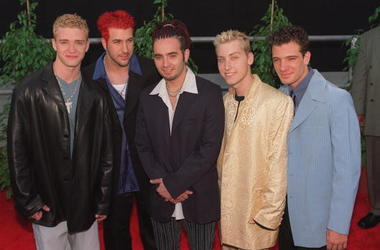 5/25/99. Los Angeles, CA. Boy Band ''N-Sync'' arrive at the 5th Annual Blockbuster Awards held at the Shrine Auditorium, Los Angeles. Picture by DAN CALLISTER Online USA INc.