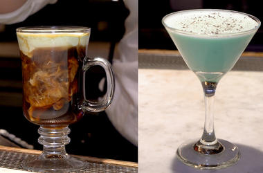 Two St. Patrick's Day cocktails from Robin Jaffe