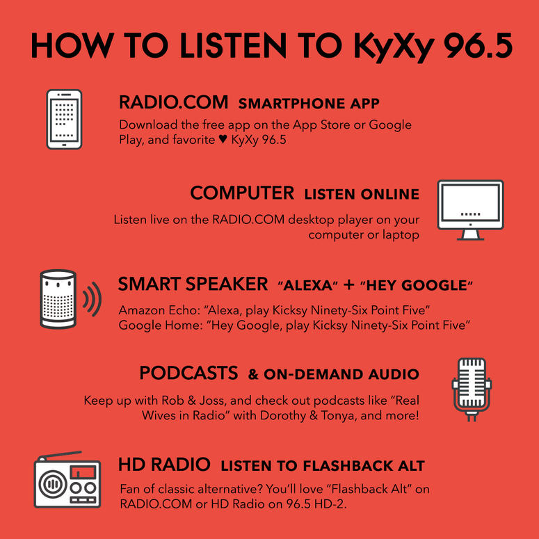 How To Listen To KyXy   KyXy 96 5