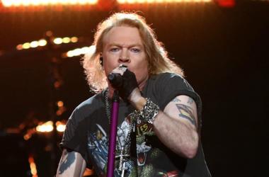 Axl Rose of Guns N' Roses performs in 2017
