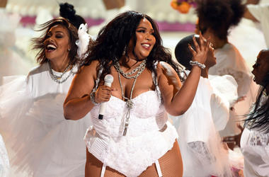 : Lizzo performs onstage at the 2019 BET Awards on June 23, 2019 in Los Angeles, California