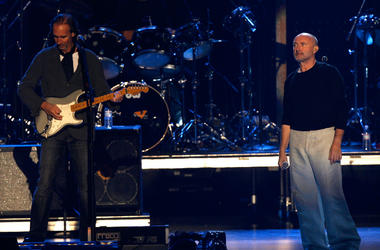 Mike Rutherford and Phil Collins in 2007