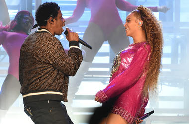 Jay-Z performs with Beyonce at the 2018 Coachella Valley Music And Arts Festival at Indio Polo Grounds on April 21, 2018 in Indio, California.