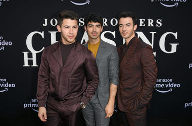 Nick Jonas, Joe Jonas, and Kevin Jonas attend the Premiere of Amazon Prime Video's 'Chasing Happiness' at Regency Bruin Theatre on June 03, 2019 in Los Angeles, California
