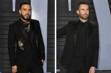 French Montana. 2018 Vanity Fair Oscar Party hosted following the 90th Academy Awards held at the Wallis Annenberg Center for the Performing Arts. / 04 March 2018 - Los Angeles, California - Adam Levine.