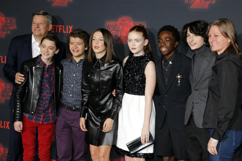 Noah Schnapp, Gaten Matarazzo, Millie Bobby Brown, Sadie Sink, Caleb McLaughlin and Finn Wolfhard.