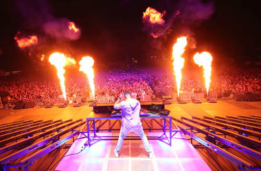 INDIO, CA - APRIL 15: DJ Snake performs at the Outdoor stage during day 2 of the Coachella Valley Music And Arts Festival (Weekend 1) at the Empire Polo Club on April 15, 2017 in Indio, California.