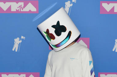 Marshmello Face walking on the red carpet at The 2018 MTV Video Music Awards held at Radio City Music Hall in New York, NY on August 20, 2018.