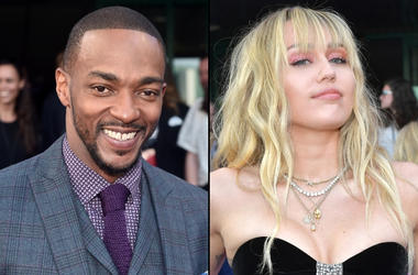 Anthony Mackie and Miley Cyrus