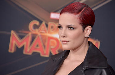 """Halsey arrives at the Marvel Studios """"Captain Marvel"""" Los Angeles Premiere held at the El Capitan Theatre in Hollywood, CA on Monday, March 4, 2019"""