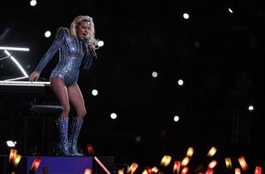 Feb 5, 2017; Houston, TX, USA; Lady Gaga performs during halftime between the Atlanta Falcons and the New England Patriots during Super Bowl LI at NRG Stadium. Mandatory Credit: Bob Donnan-USA TODAY Sports