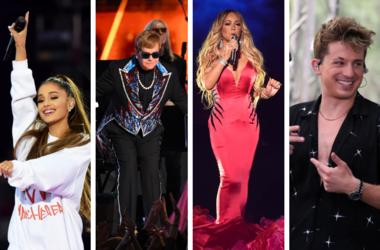 Ariana Grande, Elton John, Mariah Carey, Charlie Puth