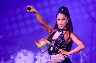 Ariana Grande performs onstage at Banc of California Stadium on June 2, 2018 in Los Angeles, California