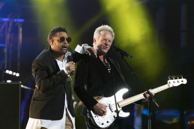 Shaggy (left) and Sting perform at the Royal Albert Hall in London