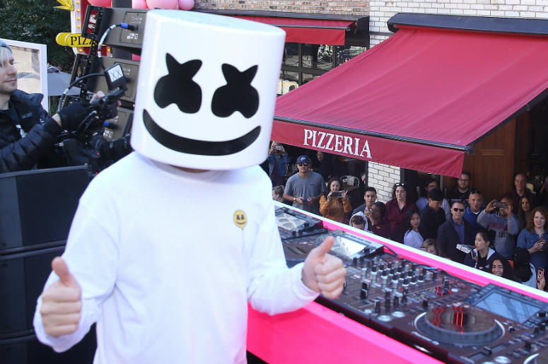Marshmello attends Victoria's Secret PINK And Marshmello Team Up For 'PINK Loves Chicago' event on September 22, 2018 in Chicago, Illinois.