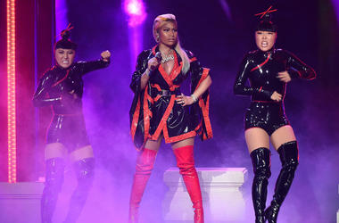 Nicki Minaj performs on the 2018 BET Awards