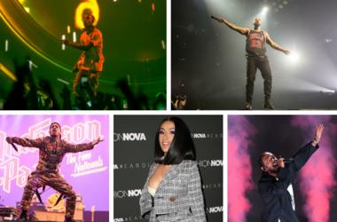 Travis Scott, Drake, Anderson .Paak, Cardi B, Kendrick Lamar