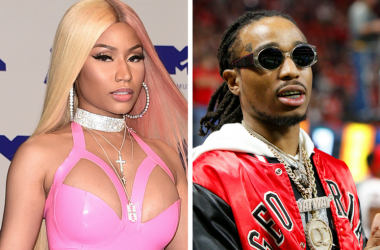 Nicki Minaj arriving at the MTV Video Music Awards 2017 / Quavo on the sidelines of the SEC Championship game between the Georgia Bulldogs and the Auburn Tigers