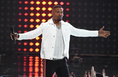 LOS ANGELES - JUNE 24: Jamie Foxx hosts the 2018 BET Awards at the Microsoft Theater on June 24, 2018 in Los Angeles, California.