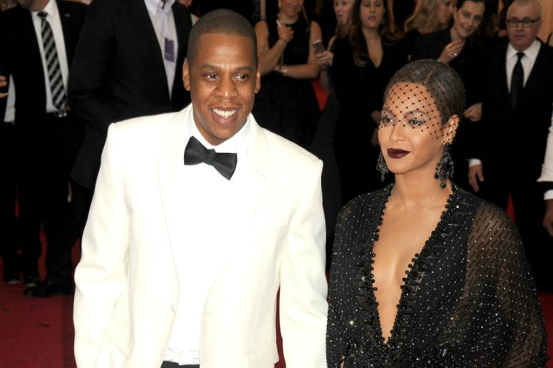 Singer Beyonce and Jay-Z  arrive at the 2015 Costume Institute Gala Benefit celebrating 'China: Through The Looking Glass' held at the Metropolitan Museum Of Art in New York, NY on May 4th, 2015.