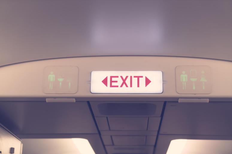 emergency exit on plane