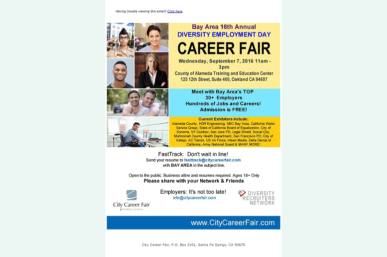 The Bay Area's 16th Annual Diversity Employment Day Career