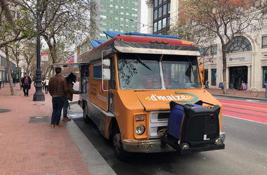 d'maize Food Truck on San Francisco's Market Street (Photo credit: Carrie Hodousek/KCBS Radio)