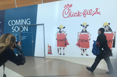 Upcoming Chick-fil-A Restaurant in Mineta San Jose International Airport (Photo credit: Matt Bigler/KCBS Radio)