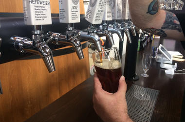 Original Pattern Brewing Company in Oakland (Photo credit: Carrie Hodousek/KCBS Radio)