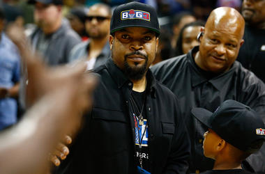 Jul 2, 2017; Charlotte, NC, USA; Movie actor Ice Cube stands on the court after the game between 3's Company and Ghost Ballers at Spectrum Center. Mandatory Credit: Jeremy Brevard-USA TODAY Sports