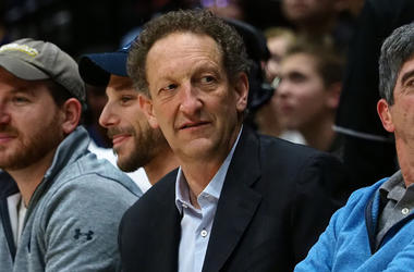 Jan 4, 2018; Berkeley, CA, USA; San Francisco Giants chief executive officer Larry Baer sits court side during the first half between the California Golden Bears and the USC Trojans at Haas Pavilion. Mandatory Credit: Kelley L Cox-USA TODAY Sports