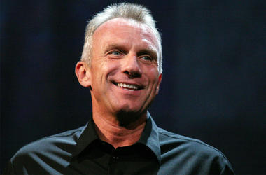"""14 June 2010- Los Angeles, CA - Retired Hall of Fame NFL player Joe Montana speaks about EA Sport's football video game """"Madden NFL 11"""" during the Electronic Arts E3 2010 Press Conference held at the Orpheum Theatre in Los Angeles, California. Photo Credi"""