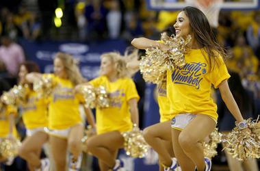 Golden State Warriors Dance Team (Photo credit: Cary Edmondson/USA Today Sports)
