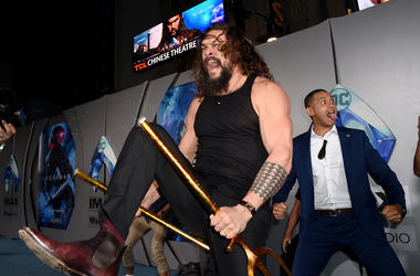 HOLLYWOOD, CALIFORNIA - DECEMBER 12: Jason Momoa attends the premiere of Warner Bros. Pictures' 'Aquaman' at TCL Chinese Theatre on December 12, 2018 in Hollywood, California. (Photo by Kevin Winter/Getty Images)