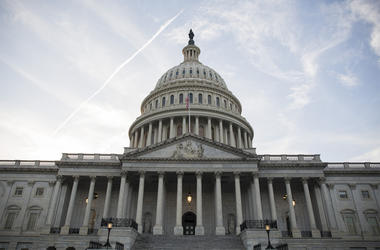 WASHINGTON, DC - FEBRUARY 05: The U.S. Capitol Building seen on February 5, 2019 in Washington, DC. President Trump delivers his State of the Union address tonight in Washington, a week after Speaker of the House Nancy Pelosi withdrew her initial invitati