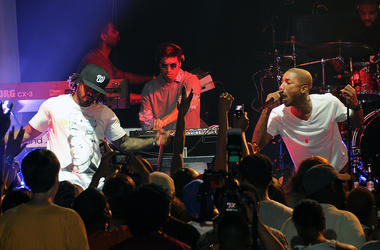 ATLANTA, GA - MAY 25: N.E.R.D performs during the Coors Light Super Cold Summer Kickoff Event at The Mansion Elan on May 25, 2011 in Atlanta, Georgia. (Photo by Rick Diamond/Getty Images for Coors Light)