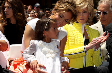 20 June 2013 - Hollywood, California - Jennifer Lopez, Casper Smart, Daughter, Emme, Son, Max, Jane Fon. Ceremony honoring Jennifer Lopez with 2,500th Star on The Hollywood Walk Of Fame. Photo Credit: Russ Elliot/AdMedia/Sipa USA