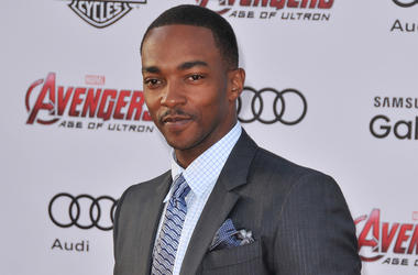 """Anthony Mackie arrives at the Marvel's """"Avengers: Age Of Ultron"""" Los Angeles Premiere held at the Dolby Theatre in Hollywood, CA on Monday, April 13, 2015. (Photo By Sthanlee B. Mirador)"""