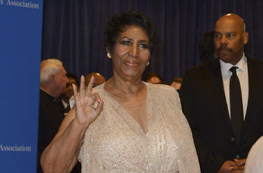 Aretha Franklin arrives at the Washington Hilton for the 102nd White House Correspondents' Association Dinner in Washington, DC on April 30, 2016.(Photo Leigh Vogel)