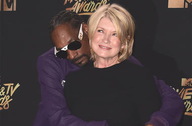 LOS ANGELES, CA - May 7: Snoop Dogg and Martha Stewart in the photo room at the 2017 MTV Movie & TV Awards at the Shrine Auditorium on May 7, 2017 in Los Angeles, California. (Photo by Scott Kirkland/PictureGroup)