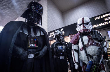 Darth Vader and Stormtroopers