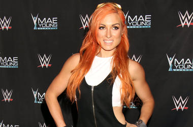 """9/12/2017 - Becky Lynch arriving as WWE Presents the finale of first ever """"Mae Young Classic"""" Women's Tournament, held at the Thomas and Mack Center, Las Vegas, September 12, 2017 (Photo by PA Images/Sipa USA)"""