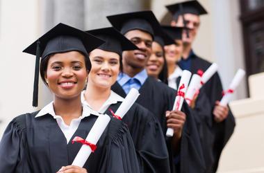 University graduates graduation
