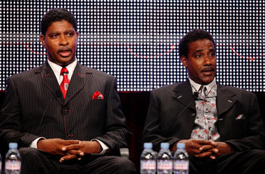 PASADENA, CA - JULY 31: Recording artists Lester Troutman and Terry Troutman of the band 'Zapp speak during the Cable portion of the 2009 Summer Television Critics Association Press Tour at the Ritz-Carlton Huntington Hotel on July 31, 2009 in Pasadena, C