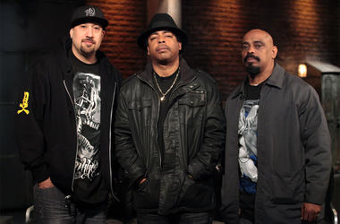 NEW YORK - MARCH 25: (L-R) B-Real, Eric 'Bobo' Correa and Sen Dog of the rap group Cypress Hill visit the fuse Studios on March 25, 2010 in New York City. (Photo by Astrid Stawiarz/Getty Images)