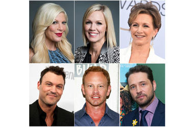 "Cast of ""Beverly Hills 90210"" (Photo credit: AP Photo)"