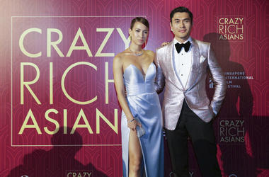 Actor Henry Golding and his wife Liv Lo