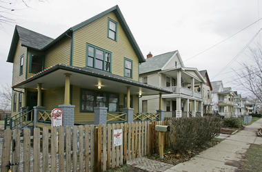 "FILE - This Dec. 15, 2008, file photo shows the house, left, where the 1983 movie ""A Christmas Story"" was filmed in Tremont neighborhood of Cleveland. The Cleveland house known for its appearance in the holiday classic ""A Christmas Story"" is planning to e"