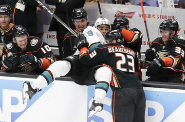 Game 2 of Anaheim Ducks v San Jose Sharks